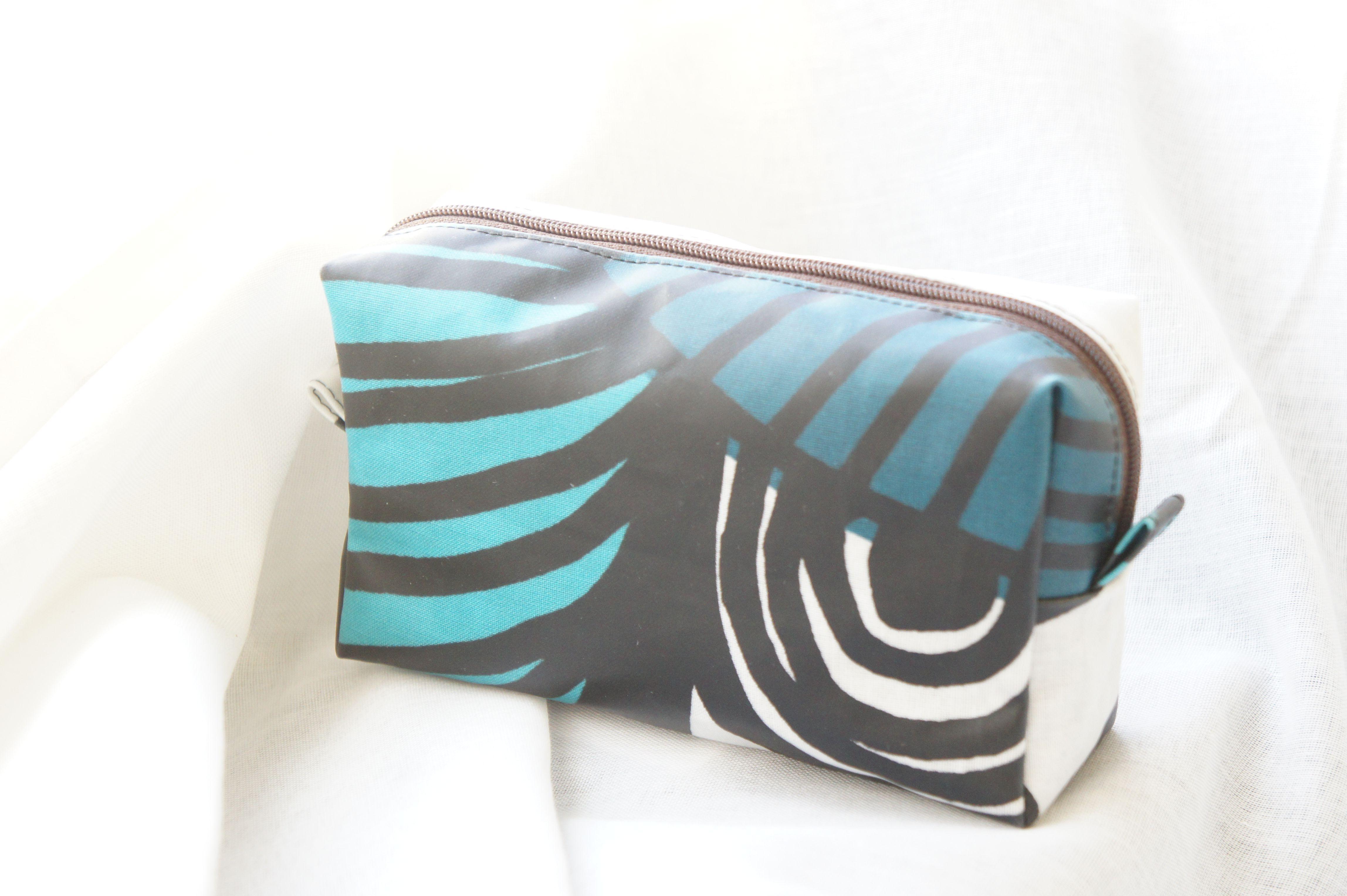 handmade cosmetic pouch #handmade #pouch  #sewing #marimekko