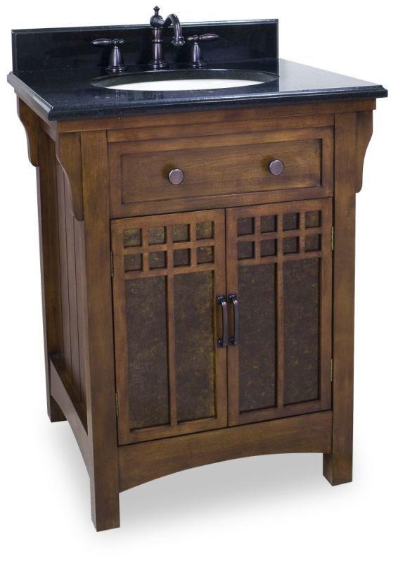 Jeffrey Alexander Van037 T Westcott Wright Collection 28 Inch Bathroom Vanity C Chestnut Mission Style Bathroom Traditional Bathroom Vanity Bathroom Vanity