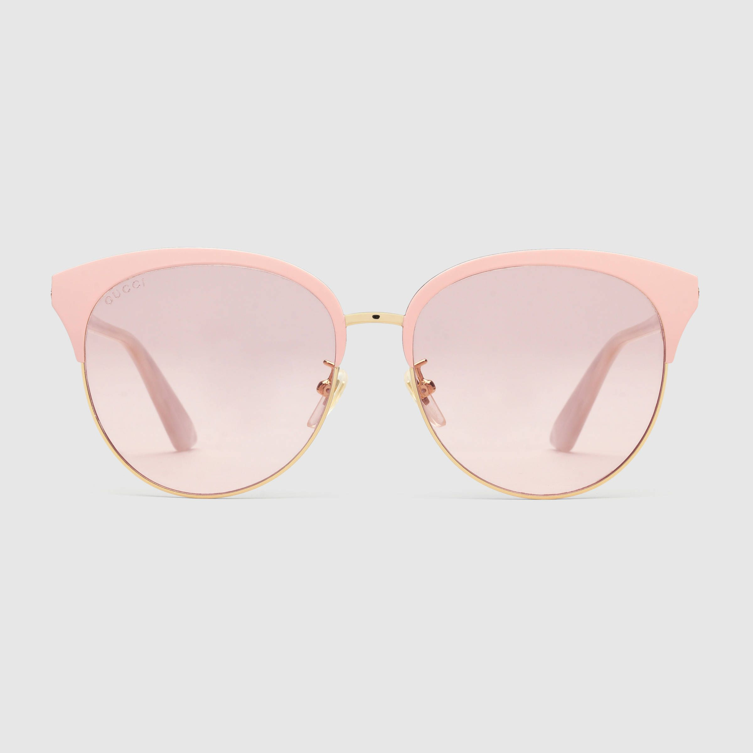 ac1465bf8 Specialized fit round-frame metal sunglasses - Gucci Women's Sunglasses  504319I03308805