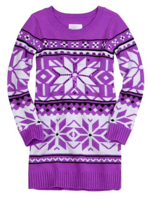 Justice for Girls Fair Isle Sweater Tunic | Little Fashion & Style ...