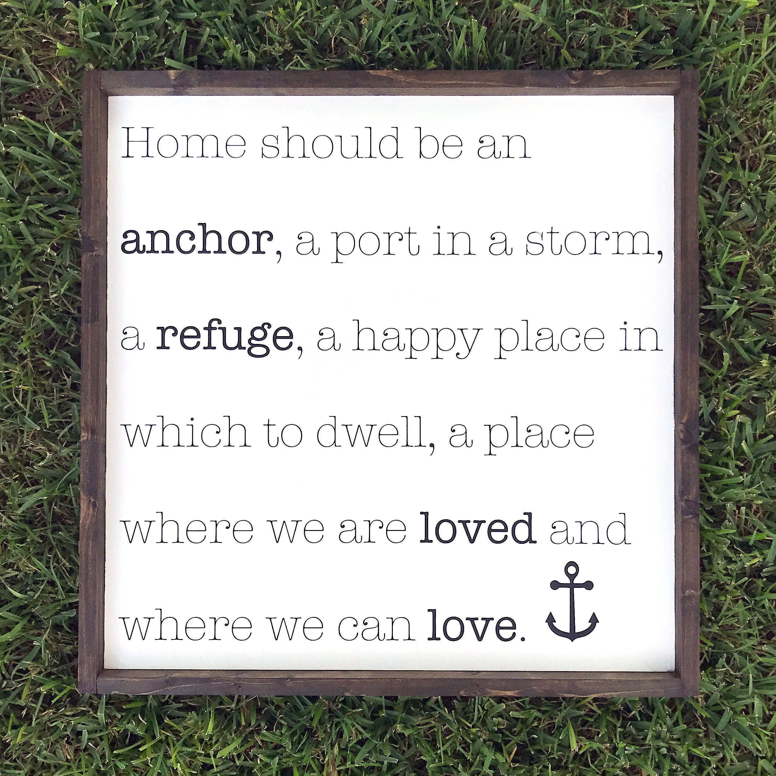 Home should be an anchor wood sign oversized decor large wall art