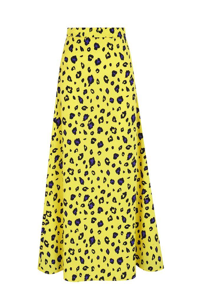 906b0ffcdd Falda larga hasta los tobillos ajustada en la cintura de la Colección  Primavera Verano 2019 de