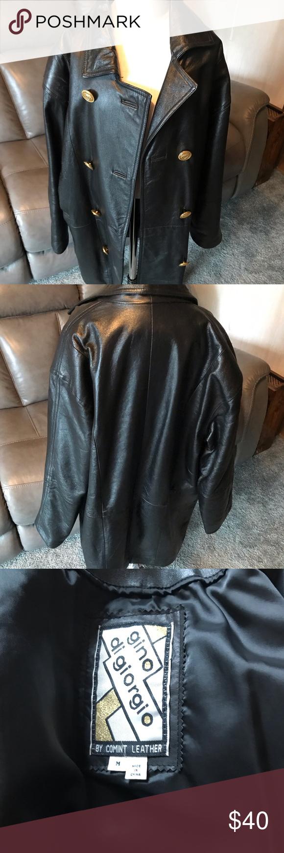 Vintage Leather Coat Jacket Size M Leather Coat Jacket Leather Coat Vintage Leather [ 1740 x 580 Pixel ]
