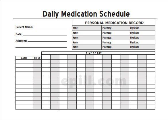 Free Medicine Chart Templates Homeschoolingforfree