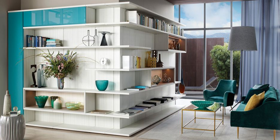 This Stunning Lshaped Entertainment Centre Provides A Place For Impressive Living Room Closet Design Design Inspiration