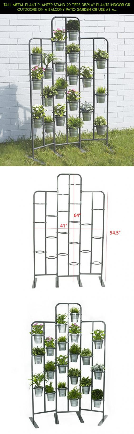 Tall metal plant planter stand tiers display plants indoor or