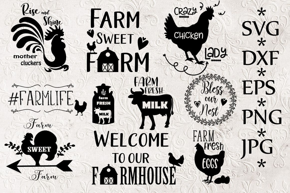 Download Cute bundle of farm themed SVG files for Cricut and ...