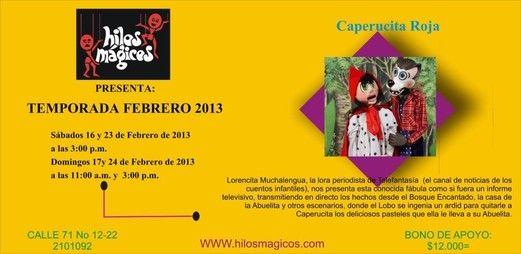 Hilos Mágicos, temporada Febrero 2013