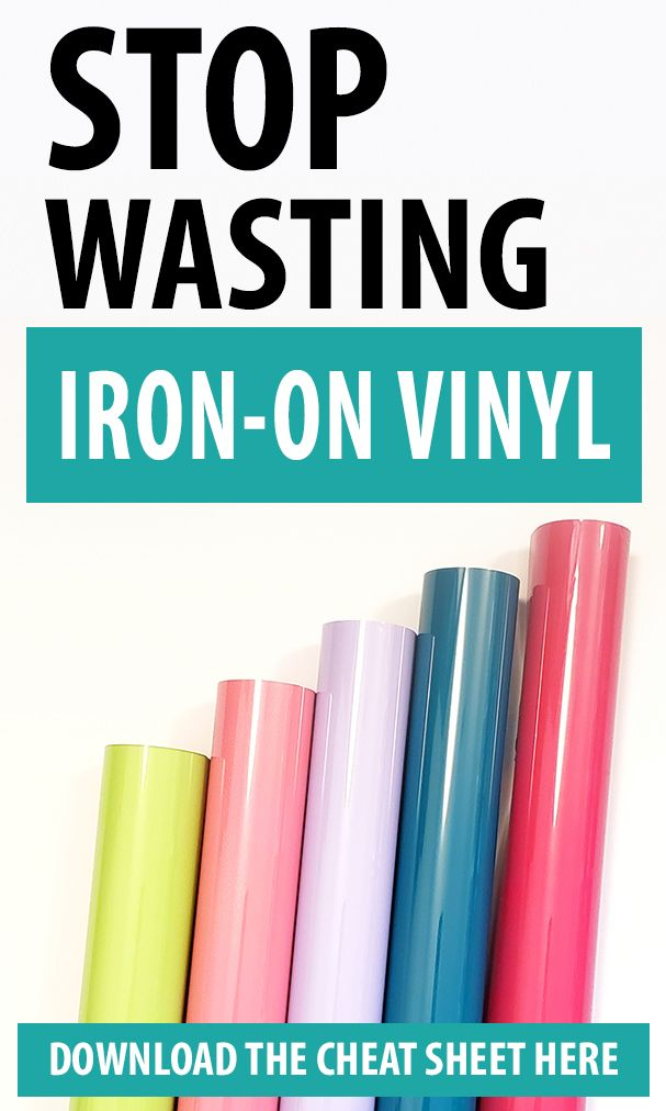 Tips for using Iron-on Vinyl
