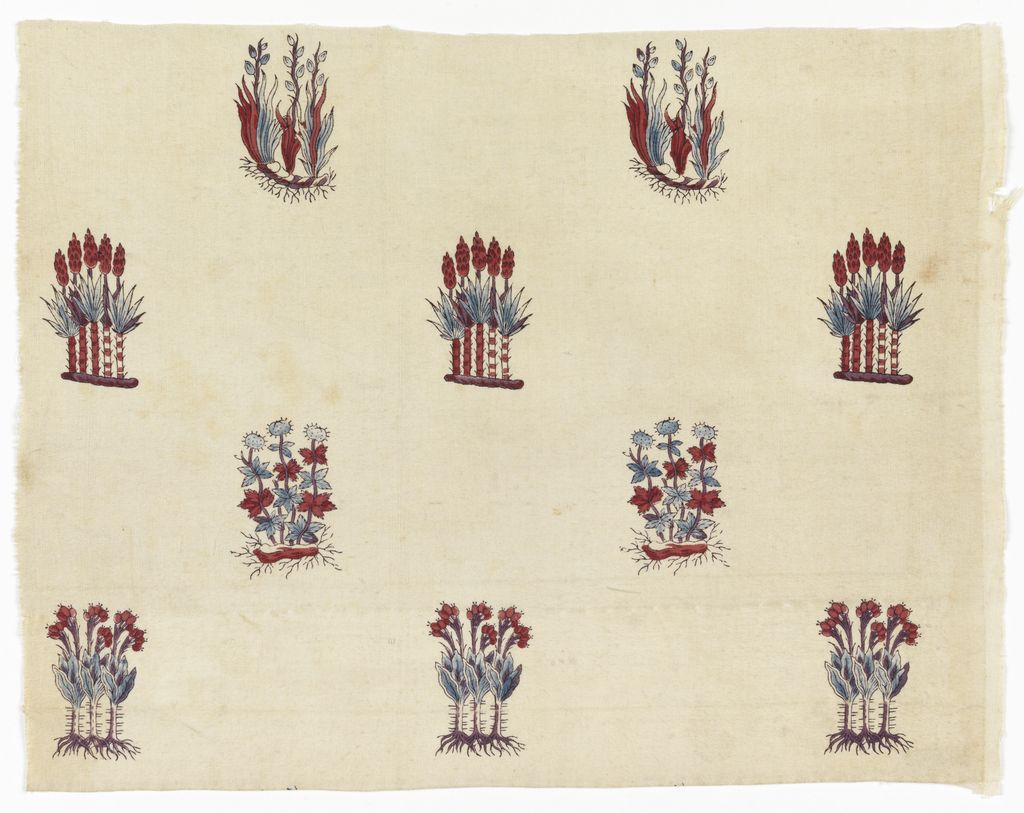 Manufacture de Toiles Peintes I de Pourtales and C. I Munster en Alsace I 18th century I Block printed on cotton plain weave