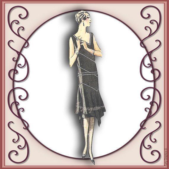 McCall 4990 Vintage 1920s Flapper Evening Dress Sewing Pattern Sz 20 ...