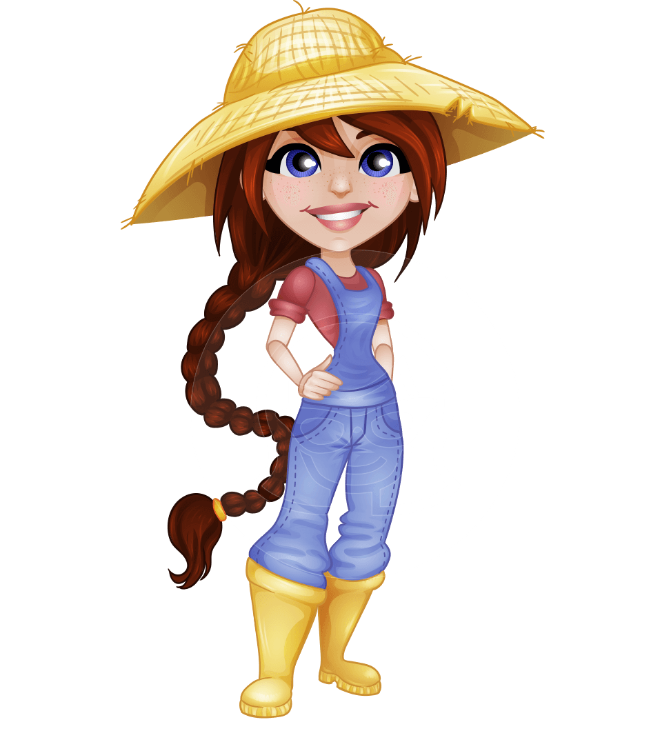 Cartoon Characters Clothes : Dianne at the farm a female cartoon character depicted as