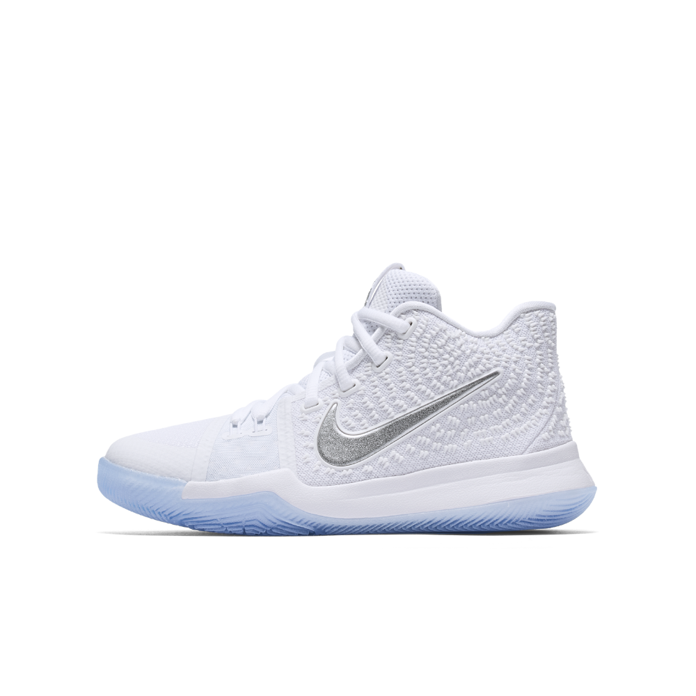 3f4ecf7164f2 Nike Kyrie 3 Big Kids  Basketball Shoe Size 5.5Y (White)