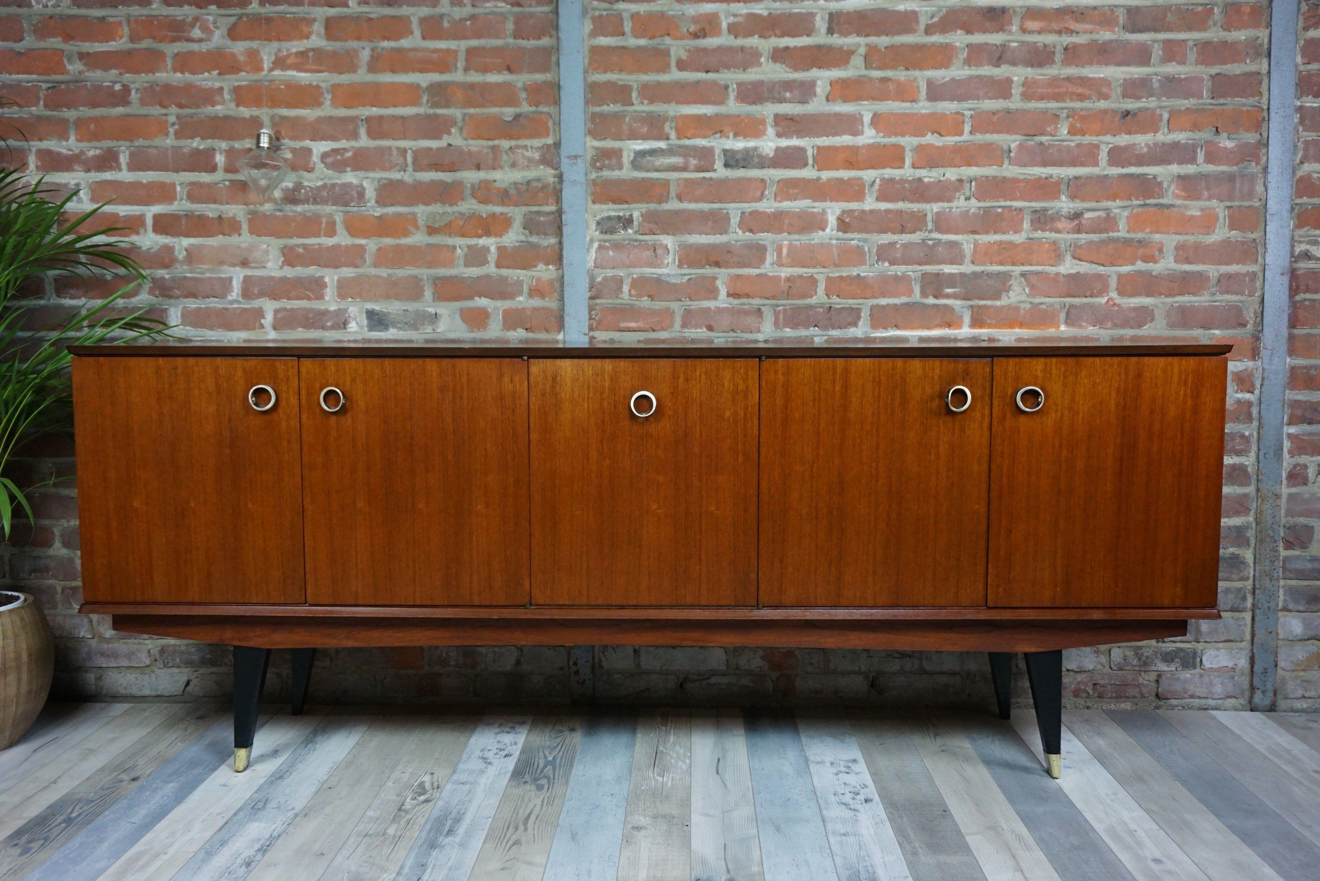 Enfilade En Teck Sideboard Annees 50 60 D Occasion Vintage Design Scandinave Industriel Ancien Vendu Sur Collector Chic Depo Decor Home Decor Furniture