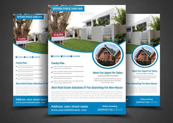 Pro Real Estate Flyer Template by AfzaalGraphics on @creativework247