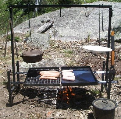 Complete Cooking Centre! Bake, Fry Grill, Boil! Light, Portable, Well. Cast  Iron ...