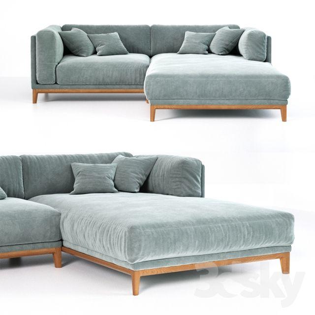 3d models: Sofa – love seat sofa unit CASE 1240×1950 (art.911 / 912)