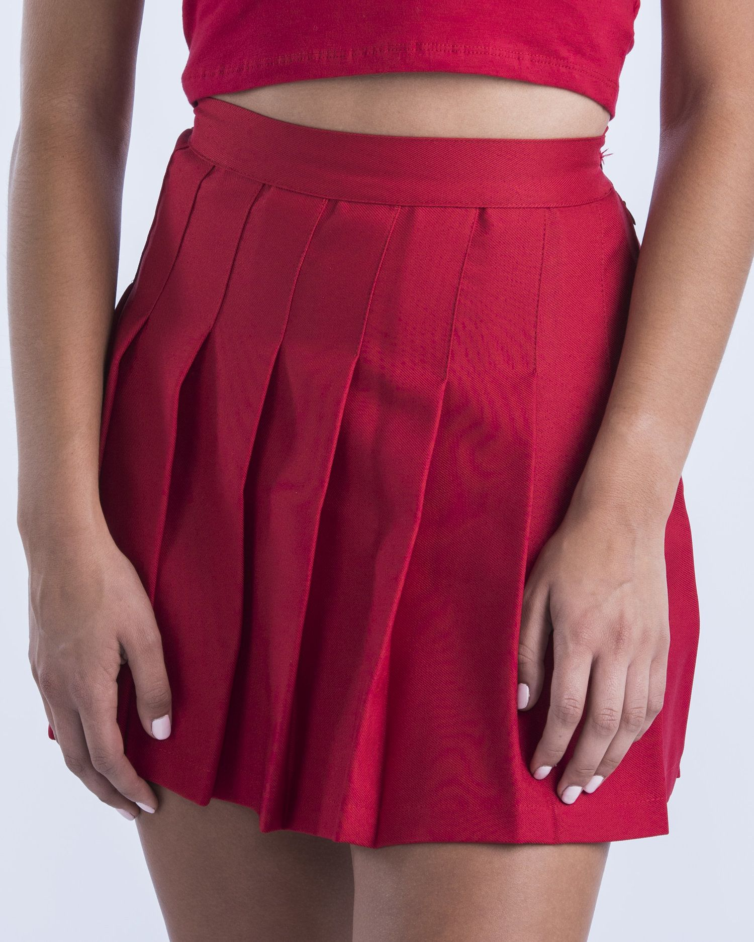 373a70eae2 Red Cheer Pleated Skirt Hype and Vice cute college tailgate game day  outfits apparel