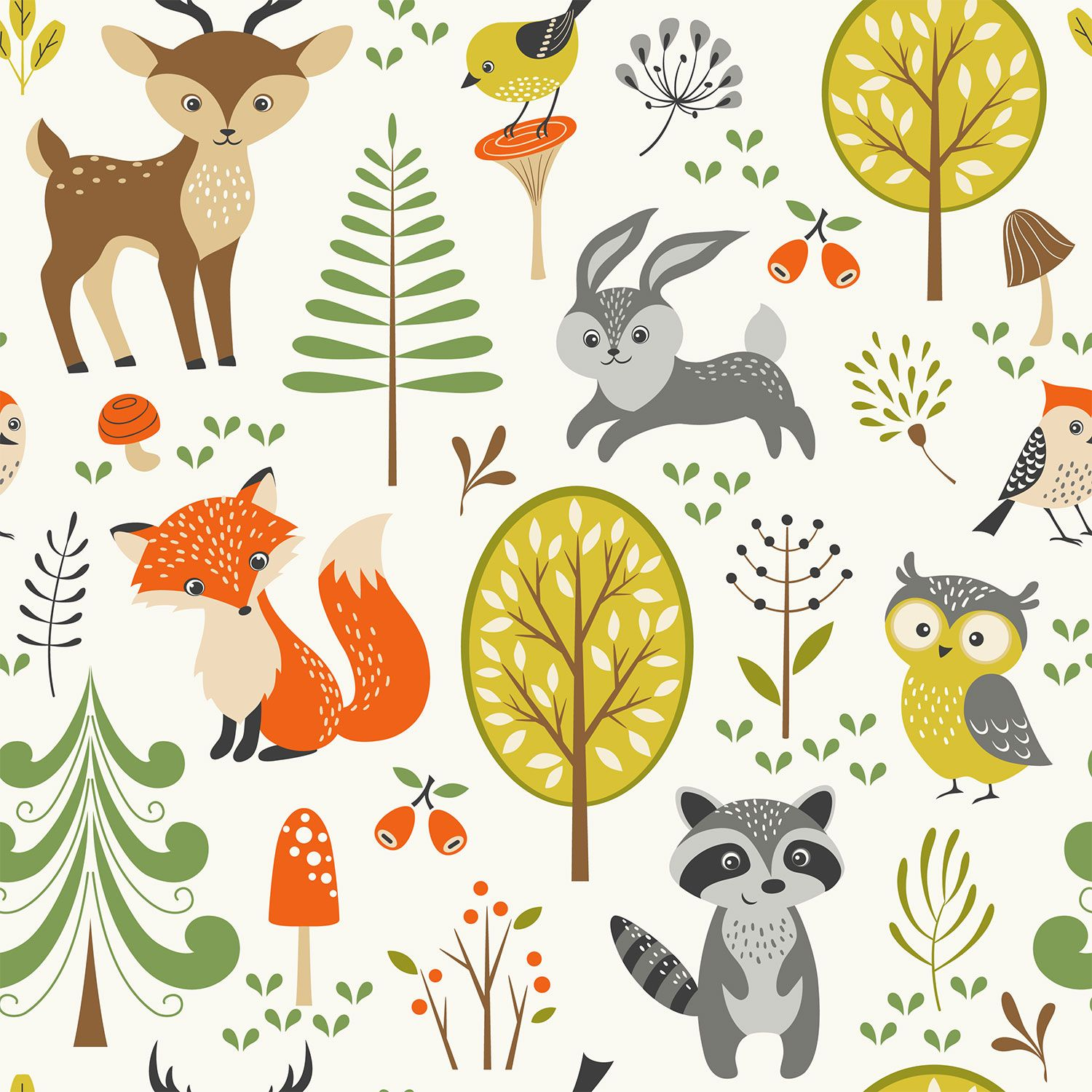 Choose Cute Forest Wallpaper to create fantastic wall
