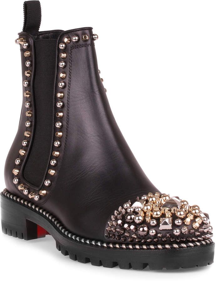 c6ee2b50c2e7 Christian Louboutin Chasse a Clou black leather boot