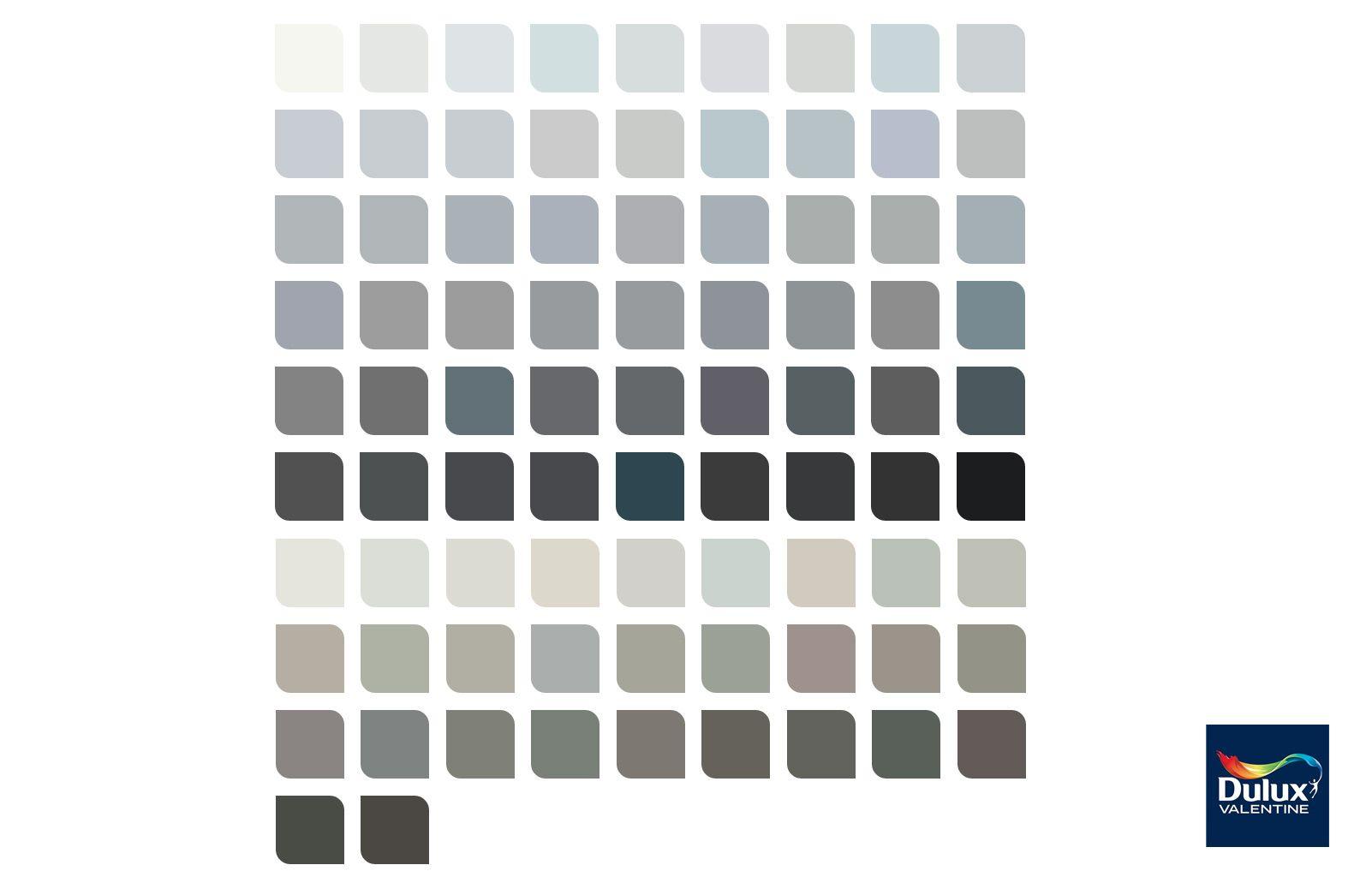 Nous avons bien plus de 50 nuances | Nuancier gris, Dulux valentine nuancier, Peinture nuance