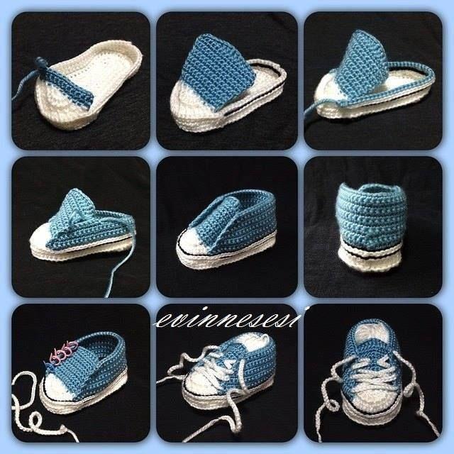 zapatillas converse ganchillo