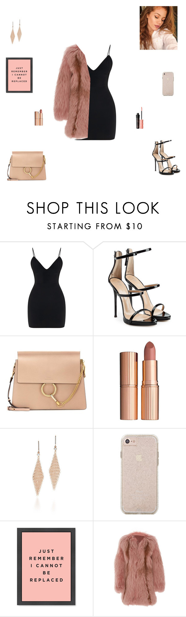 """can't be replaced"" by synclairel ❤ liked on Polyvore featuring Giuseppe Zanotti, Chloé, Charlotte Tilbury, Tiffany & Co., J. Mendel, Benefit, Winter, cute, casual and ootd"
