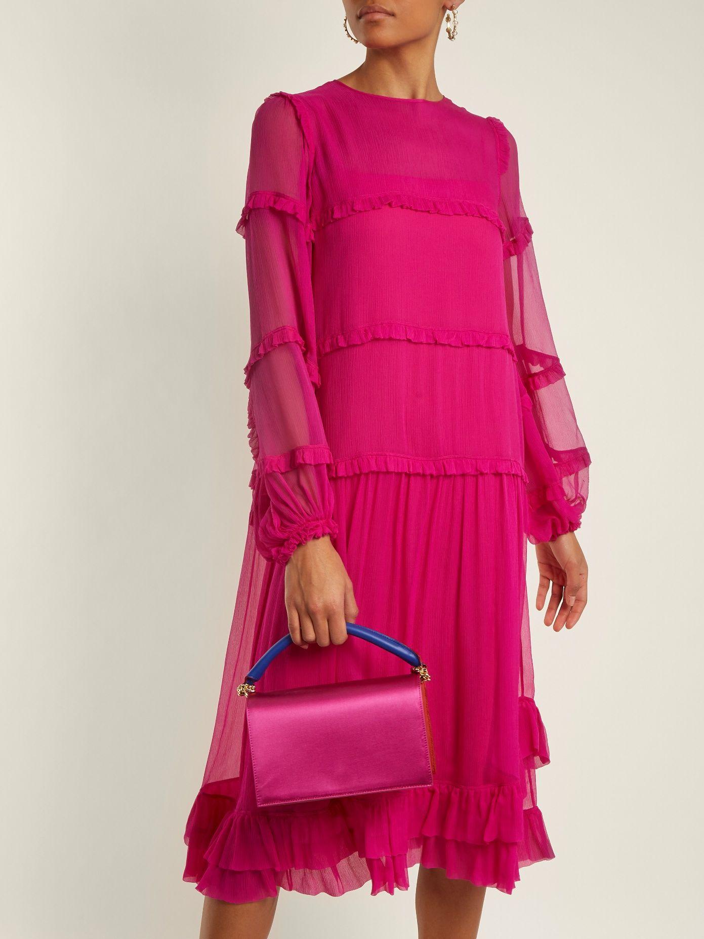 Tiered silk-chiffon dress   No. 21   vestidos   Pinterest   Chiffon ...