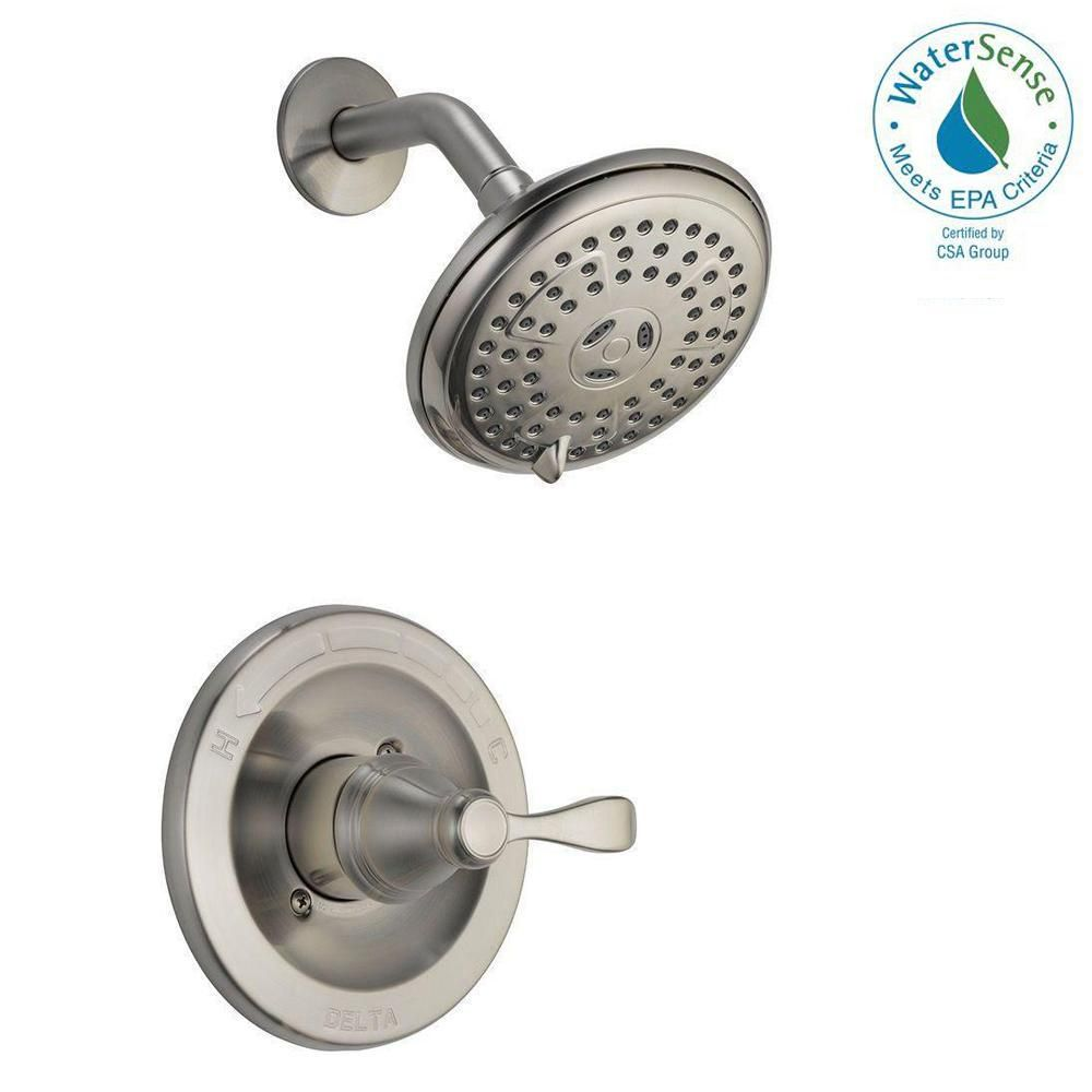 Delta Porter Single Handle 3 Spray Shower Faucet In Brushed Nickel