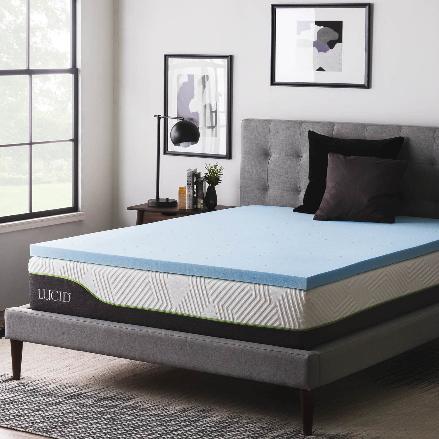 Lucid Dream Collection 3in. Lavender Memory Foam Mattress