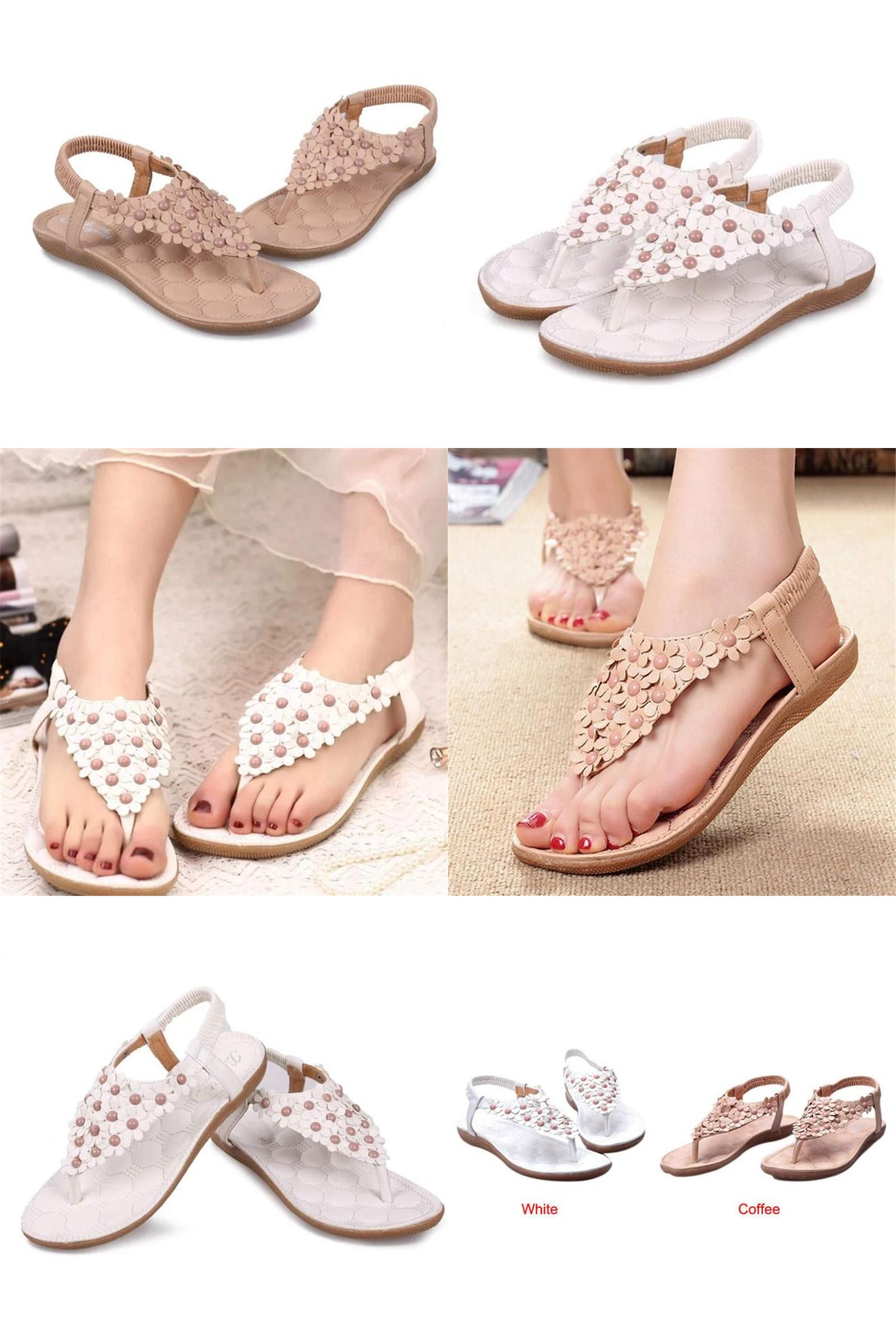 4e2c1433c379c  Visit to Buy  Fashion Women s Sandals Sweet Summer Bohemia Beaded Sandals  Clip Toe Sandals