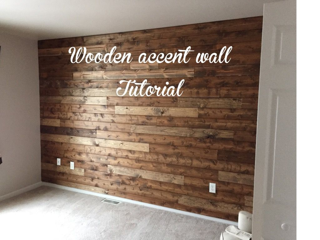 Wooden Accent Wall Tutorial Living With Lady Wooden Accent