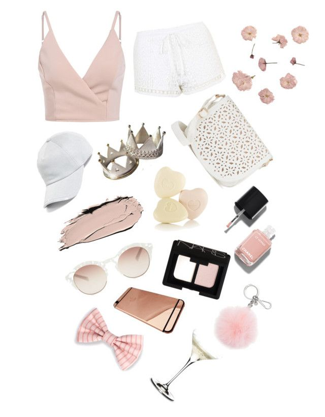 """""""rose gold"""" by voidkid ❤ liked on Polyvore featuring Topshop, Under One Sky, rag & bone, Chanel, NARS Cosmetics, self-portrait, Michael Kors and Riedel"""
