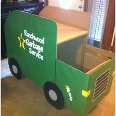 Cardboard Garbage Truck How To Make Google Search Garbage Truck Party Truck Theme Birthday Trucks Birthday Party