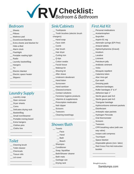 Hilaire image regarding rv camping checklist printable