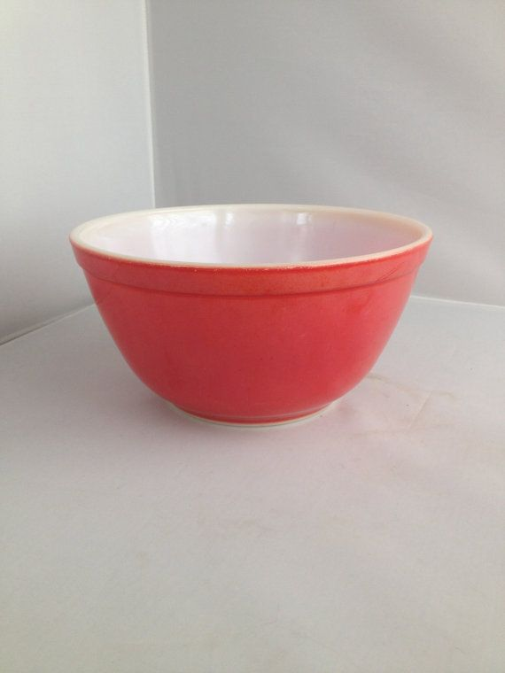 Vintage Cherry Red Primary Pyrex 402 1 1/2 Qt. Mixing Nesting Bowl ...