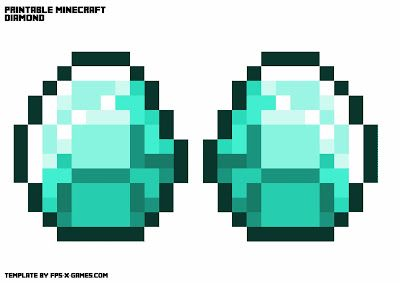 Printable Minecraft Gold Ruby Emerald Diamond Necklace Fpsxgames Minecraft Printables Minecraft Coloring Pages Minecraft Images