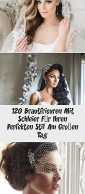 120 Brautfrisuren mit Schleier für Ihren perfekten Style am großen Tag – Brautfrisuren – Brau…