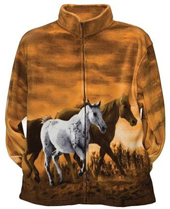 55575415d553 Trail Crest Horse Print Fleece Jacket - 50% off, only $24.99 |  ChickSaddlery.com