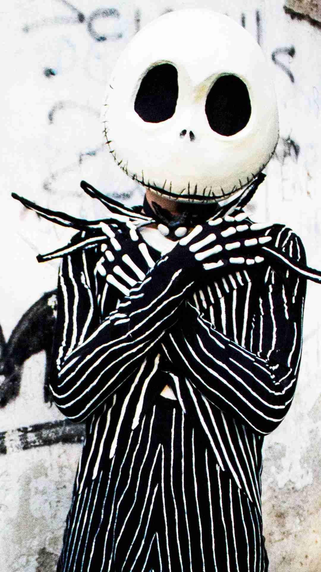 Jack Skellington Costume iPhone 6 Wallpaper for 2014 Halloween