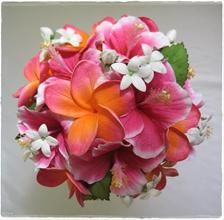 Frangipani stephanotis and hibiscus bouquet favorite places real touch artificial wedding flowers frangipani stephanotis and hibiscus bouquet by beautiful silk flowers mikas floral designs mightylinksfo Images