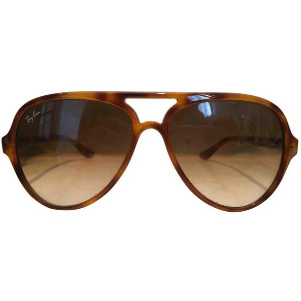 Pre-owned Ray-Ban Aviator Sunglasses (230 BRL) ❤ liked on Polyvore. Óculos  ... f6dfaed3bb