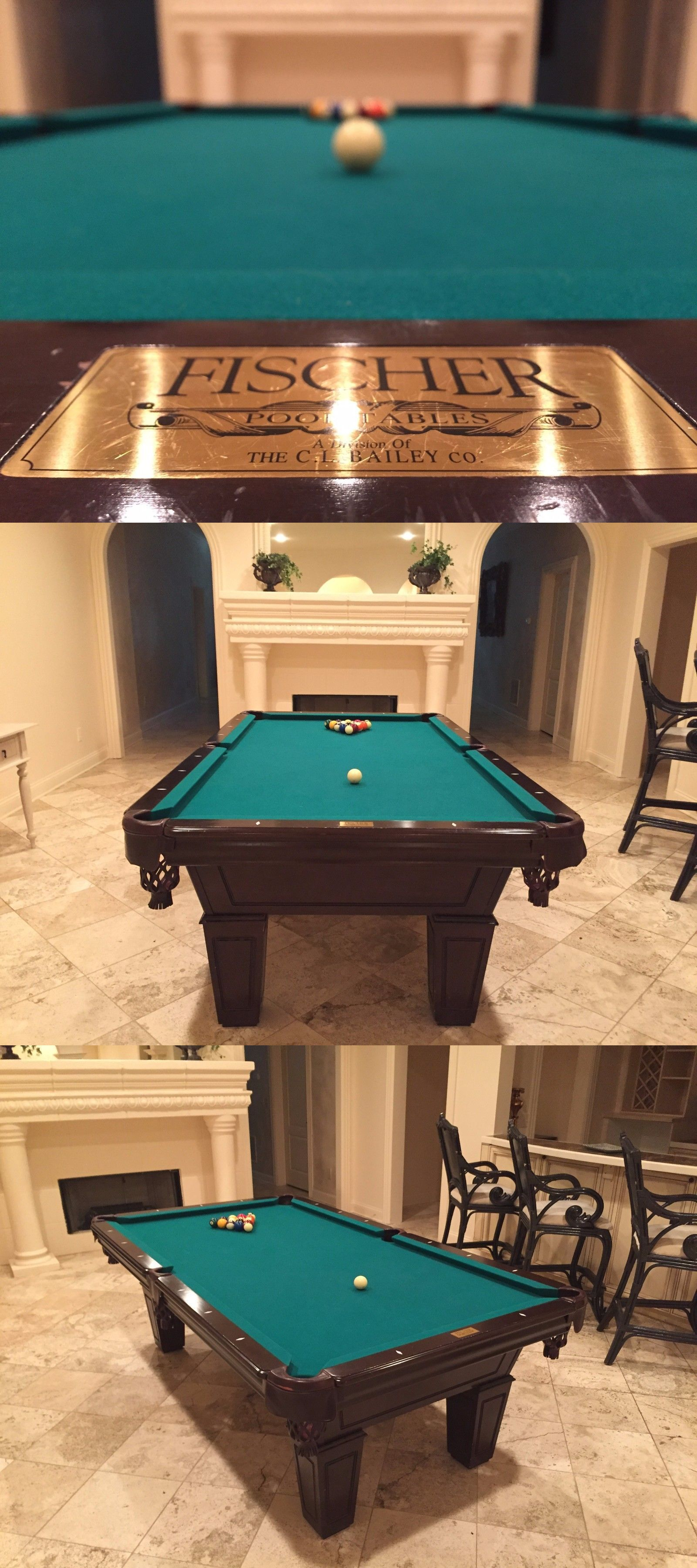 Pool table legs accessories for sale - Tables 21213 8 Ft Pool Table Billiard Accessories Balls Two Cue Sticks Triangle Rack Game