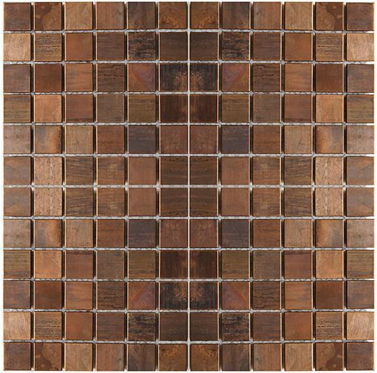 Medium Square Antique Copper Mosaic Tile For Backsplash Fireplace