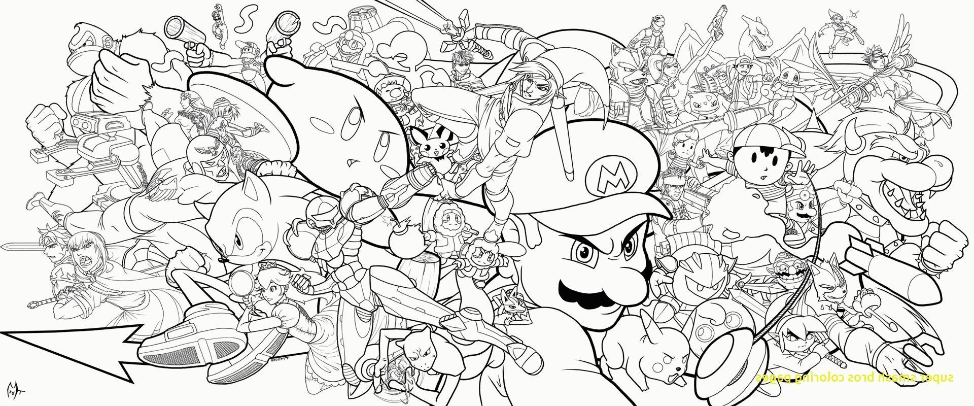 Super Smash Bros Coloring Pages Coloring Page Super