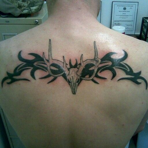 Tribal with deer skull tattoo | Tattoos I got to do ...