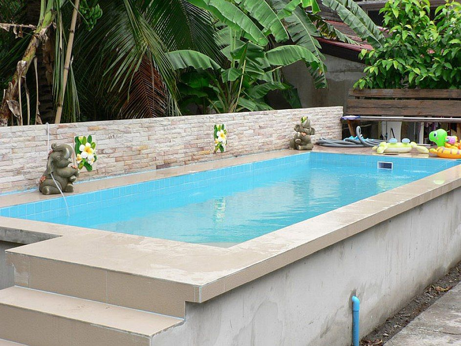Ordinary above ground swimming pools marvellous rectangle for Above ground pool landscaping ideas australia