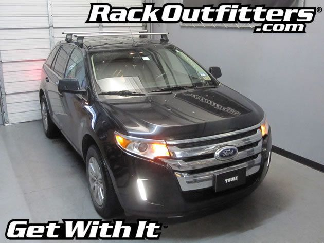 Ford Edge Thule Rapid Traverse Silver Aeroblade Base Roof Rack 07 14 Roof Rack Ford Edge Thule