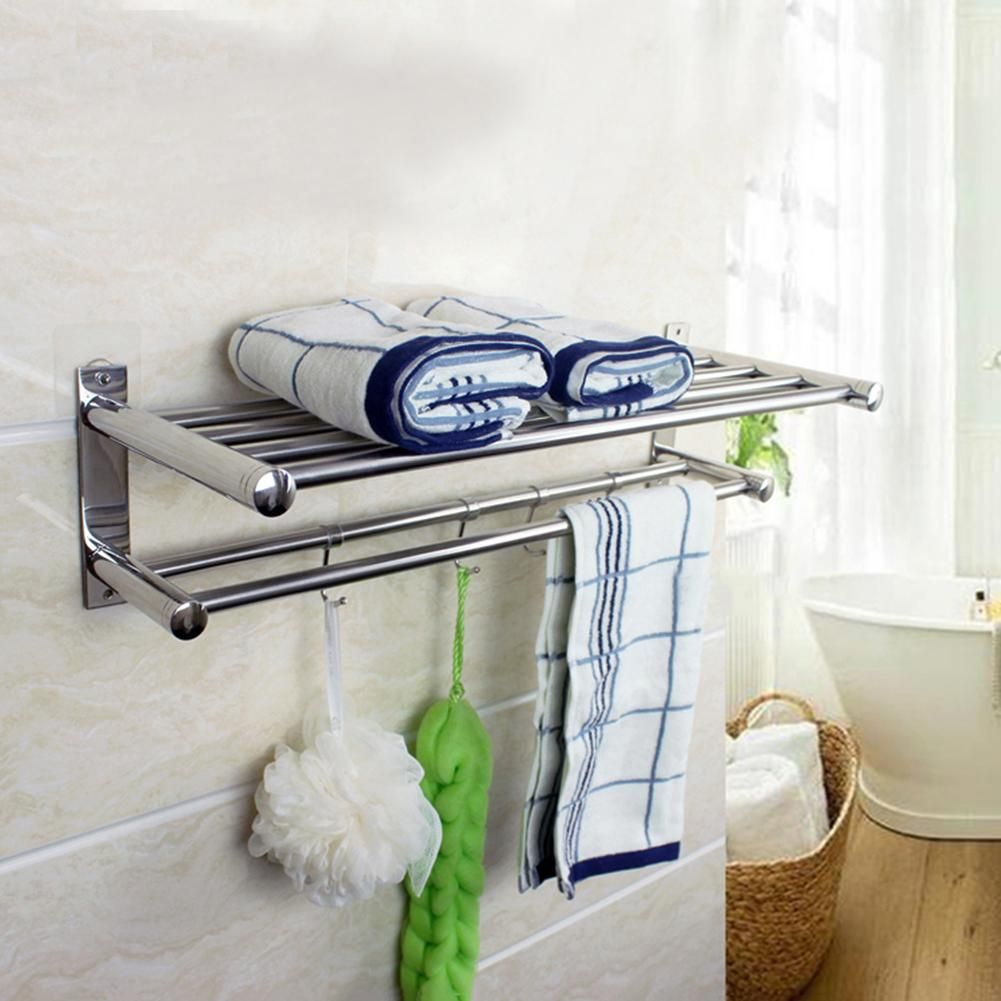 50cm Wall-Mounted Storage Shelves Bathroom Towel Rack | For the Home ...