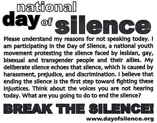 from Sylas day gay lesbian silence